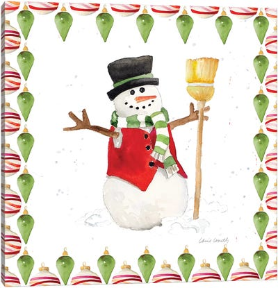 Christman Snowman IV Canvas Art Print