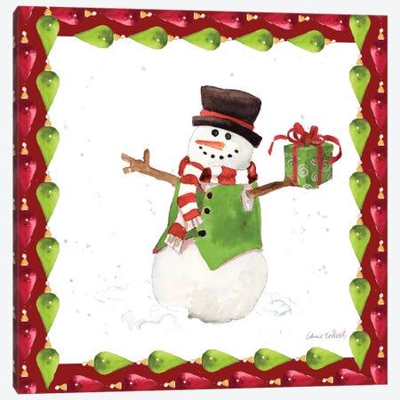 Christmas Snowman II Canvas Print #LNL257} by Lanie Loreth Art Print