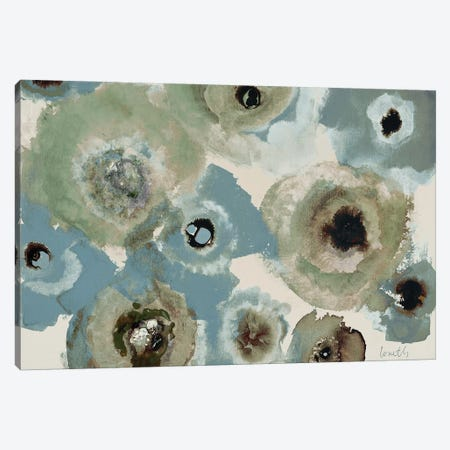 Blue Floral Canvas Print #LNL25} by Lanie Loreth Canvas Wall Art