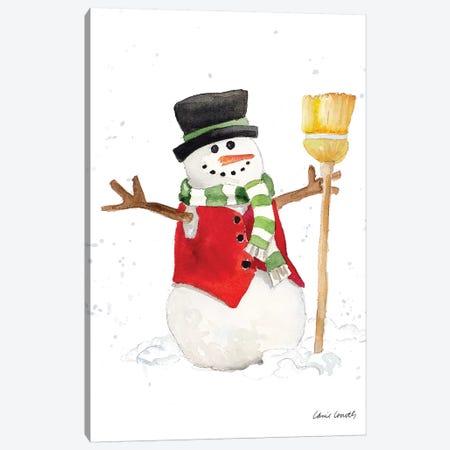 Watercolor Snowman I Canvas Print #LNL269} by Lanie Loreth Art Print
