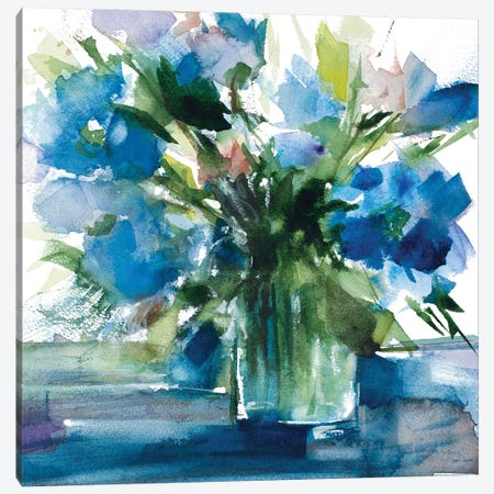 Blue Haven I Canvas Print #LNL26} by Lanie Loreth Canvas Wall Art