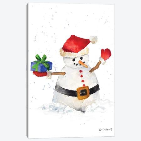 Watercolor Snowman II Canvas Print #LNL270} by Lanie Loreth Canvas Artwork
