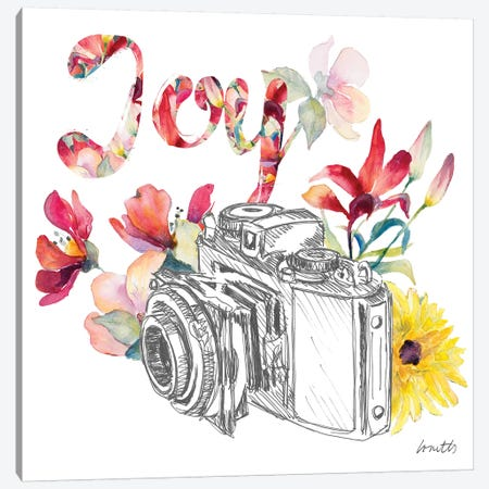 Blooming Camera Canvas Print #LNL280} by Lanie Loreth Canvas Print