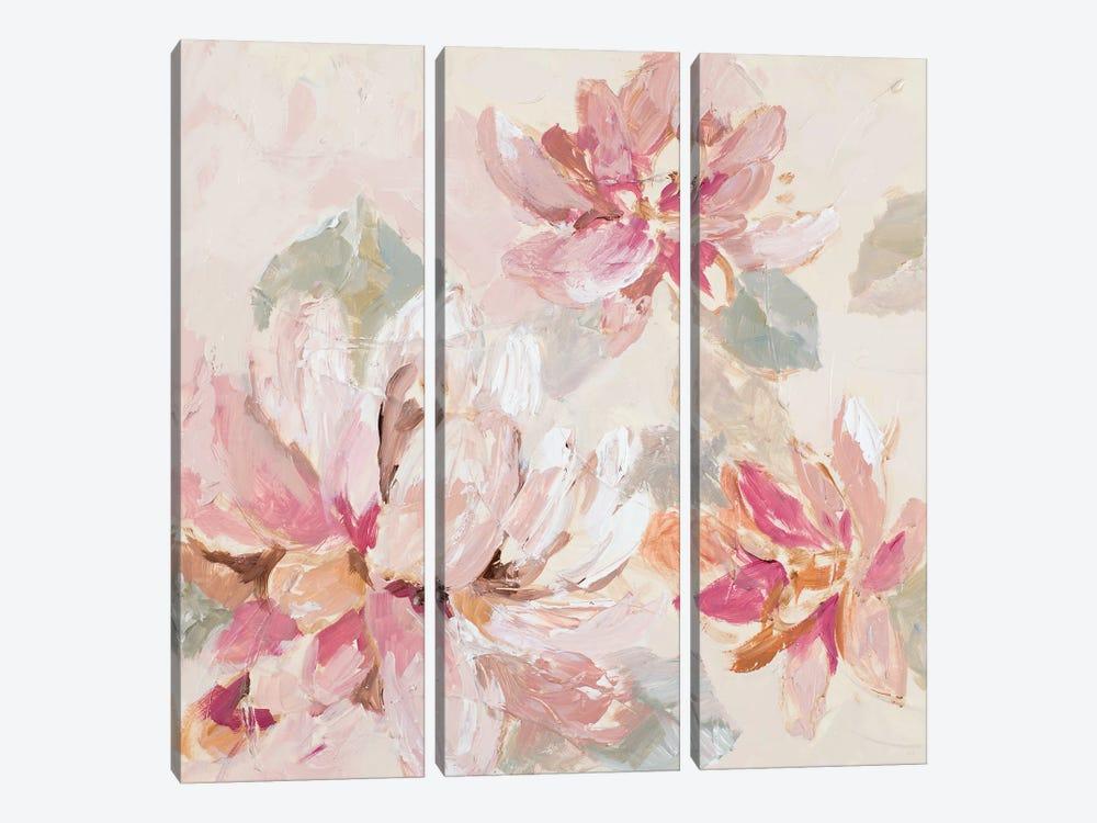 Blushing Spring I by Lanie Loreth 3-piece Canvas Artwork