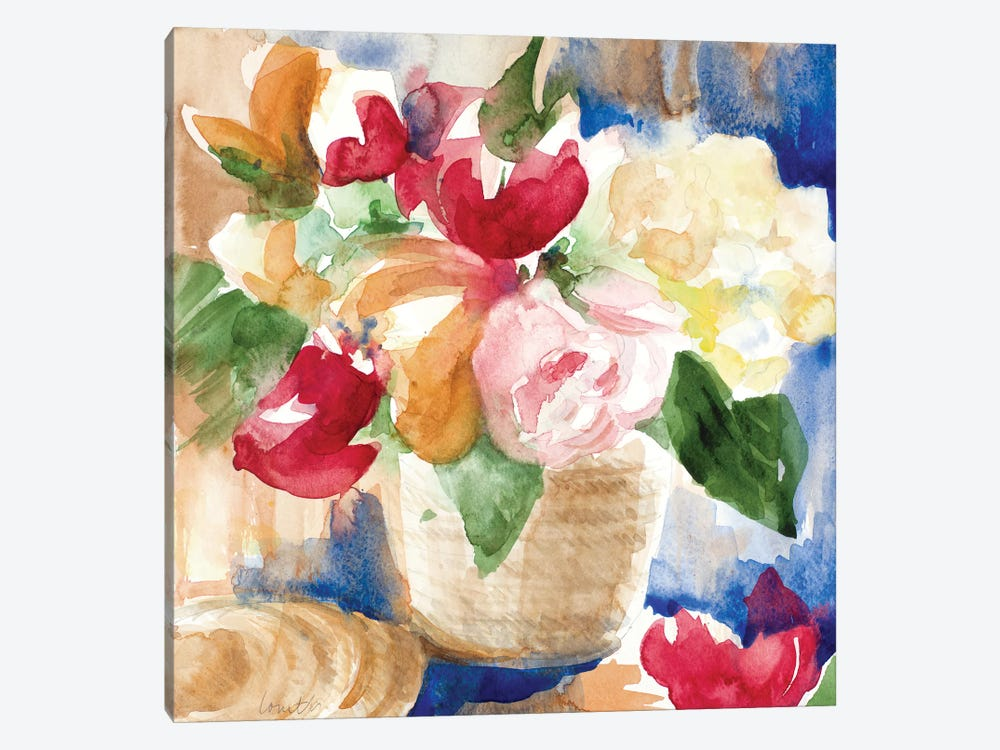 Bright Flower Basket by Lanie Loreth 1-piece Canvas Wall Art