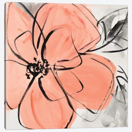 Cafe Rose II Canvas Print #LNL289} by Lanie Loreth Art Print