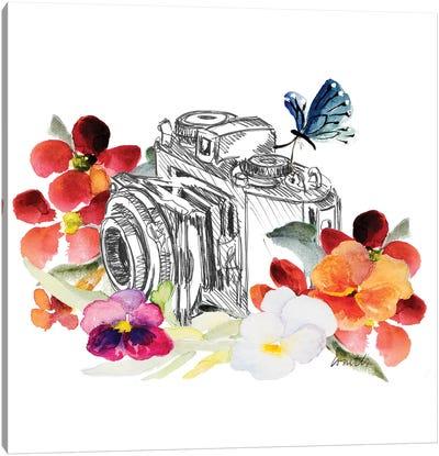 Camera Sketch On Fall Floral II Canvas Art Print