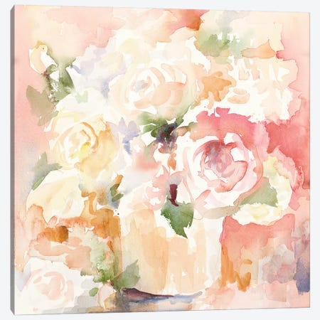 Cascading Blooms I Canvas Print #LNL293} by Lanie Loreth Canvas Artwork