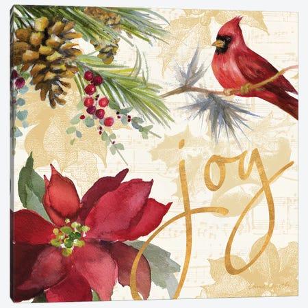Christmas Poinsettia I Canvas Print #LNL298} by Lanie Loreth Canvas Artwork