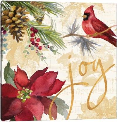 Christmas Poinsettia I Canvas Art Print