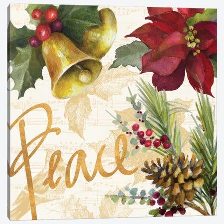 Christmas Poinsettia II Canvas Print #LNL299} by Lanie Loreth Canvas Art