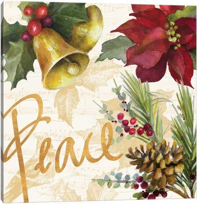 Christmas Poinsettia II Canvas Art Print