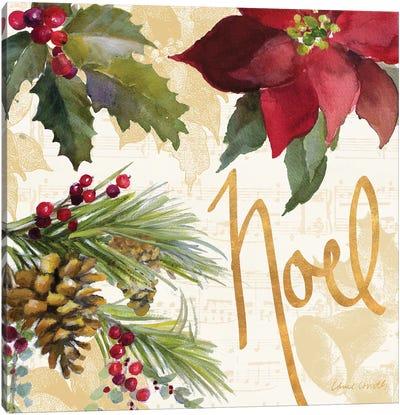 Christmas Poinsettia III Canvas Art Print