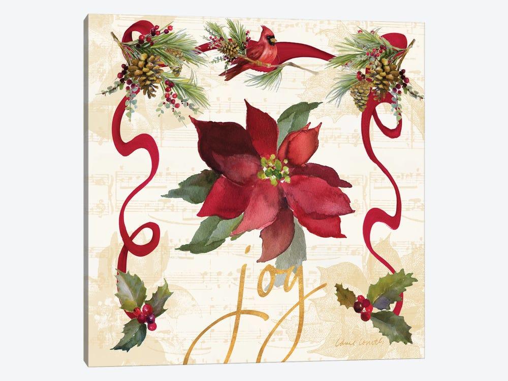 Christmas Poinsettia Ribbon IV by Lanie Loreth 1-piece Canvas Art Print