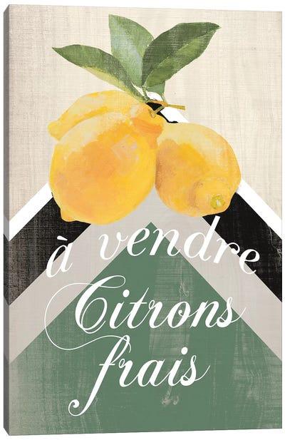 Citron Frais Canvas Art Print