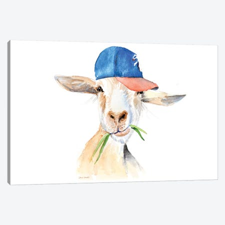 Cool Goat Canvas Print #LNL308} by Lanie Loreth Canvas Wall Art