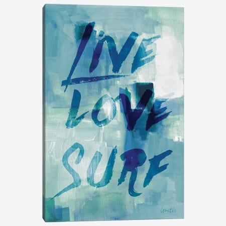 Blue Waves II Canvas Print #LNL30} by Lanie Loreth Canvas Art