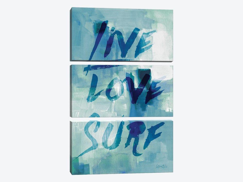 Blue Waves II by Lanie Loreth 3-piece Canvas Art