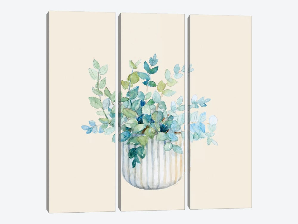 Decorative Potted Plant IV by Lanie Loreth 3-piece Canvas Wall Art
