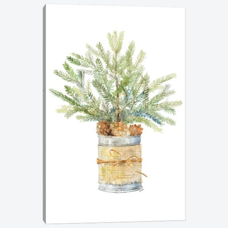 Fir Tree With Burlap Canvas Print #LNL319} by Lanie Loreth Canvas Art Print