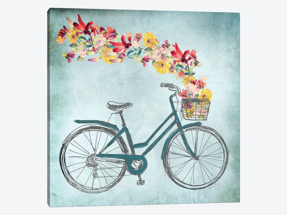 Floral Day Bike II by Lanie Loreth 1-piece Art Print