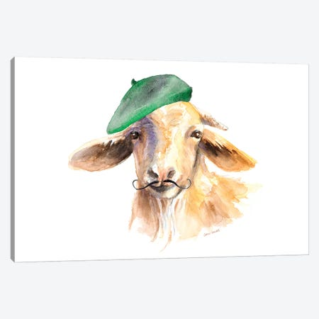 French Goat Canvas Print #LNL327} by Lanie Loreth Art Print