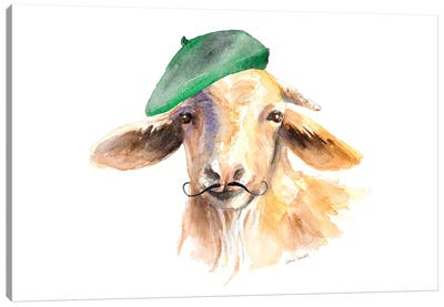 French Goat Canvas Art Print