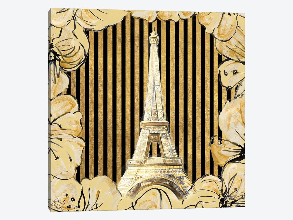 Golden Paris I 1-piece Canvas Art