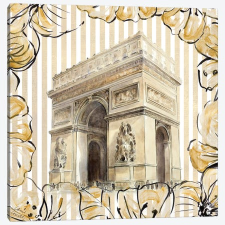 Golden Paris II Canvas Print #LNL336} by Lanie Loreth Canvas Wall Art