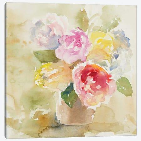 Graceful Bloom Basket Canvas Print #LNL337} by Lanie Loreth Canvas Art