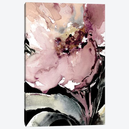 Happy Bloom On Black II Canvas Print #LNL339} by Lanie Loreth Art Print