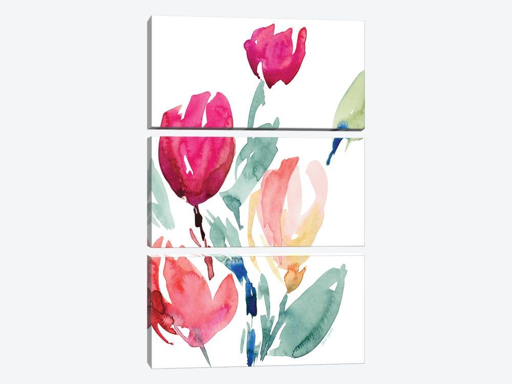 Happy Tulips I by Lanie Loreth 3-piece Canvas Art
