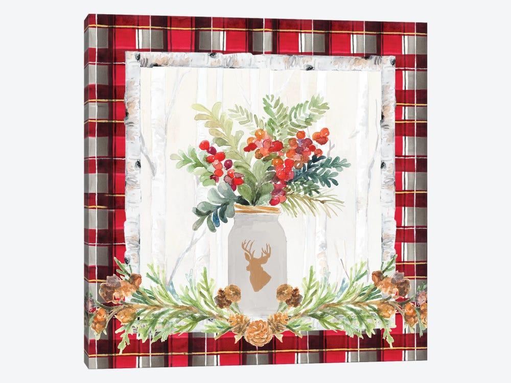 Holiday Sprig On Plaid II by Lanie Loreth 1-piece Art Print