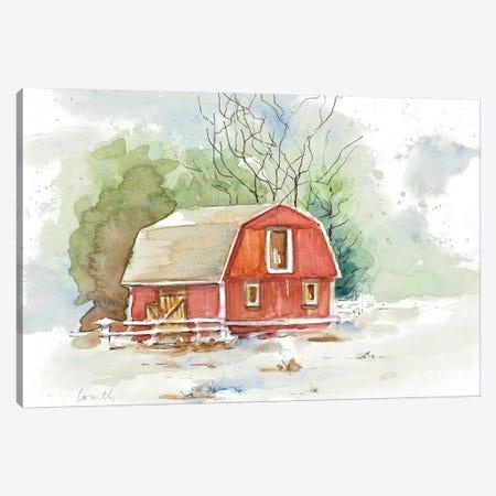Holiday Town II Canvas Print #LNL347} by Lanie Loreth Canvas Print