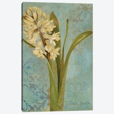 Hyacinth On Teal I Canvas Print #LNL348} by Lanie Loreth Canvas Art