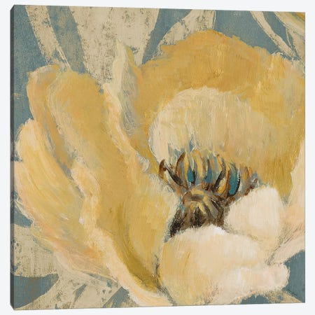 Jaune Poppy Canvas Print #LNL352} by Lanie Loreth Canvas Print