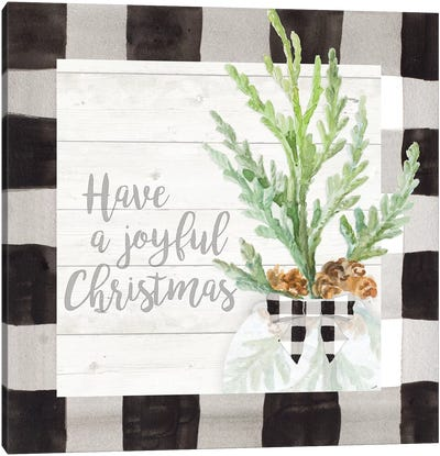 Joyful Christmas Canvas Art Print