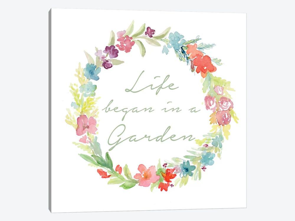 Life Began In A Garden by Lanie Loreth 1-piece Canvas Print