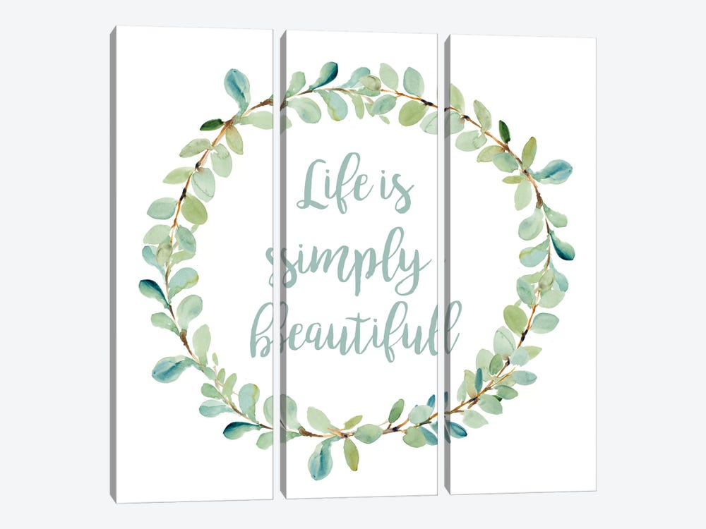 Life Is Simply Beautiful by Lanie Loreth 3-piece Canvas Wall Art