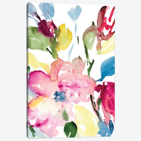 Majestic Blooms Canvas Print #LNL364} by Lanie Loreth Art Print