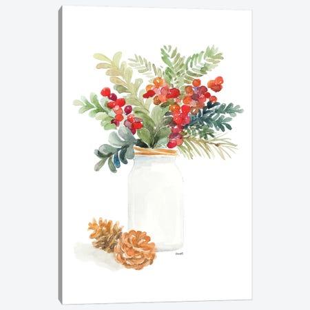 Mason Jar Of Christmas Canvas Print #LNL366} by Lanie Loreth Canvas Art Print