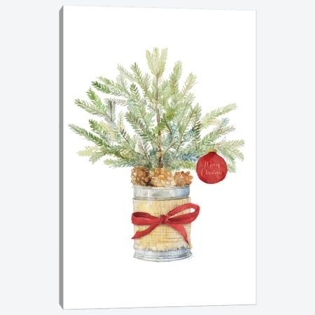 Merry Christmas Fir Tree Canvas Print #LNL367} by Lanie Loreth Canvas Art Print