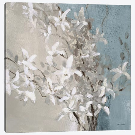 Misty Orchids (Blue) I Canvas Print #LNL369} by Lanie Loreth Canvas Artwork