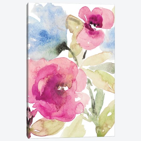 Peaceful Florals I Canvas Print #LNL382} by Lanie Loreth Canvas Artwork