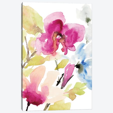 Peaceful Florals II Canvas Print #LNL383} by Lanie Loreth Canvas Artwork