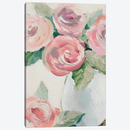 Pink Spring Blooms I Canvas Print #LNL387} by Lanie Loreth Art Print