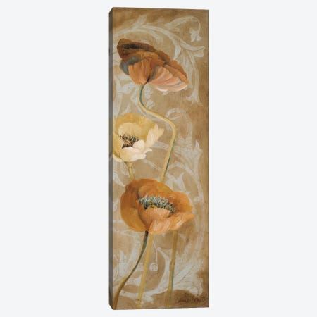 Poppies De Brun I 3-Piece Canvas #LNL390} by Lanie Loreth Canvas Art Print