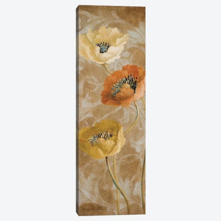 Poppies De Brun II Canvas Print #LNL391} by Lanie Loreth Art Print