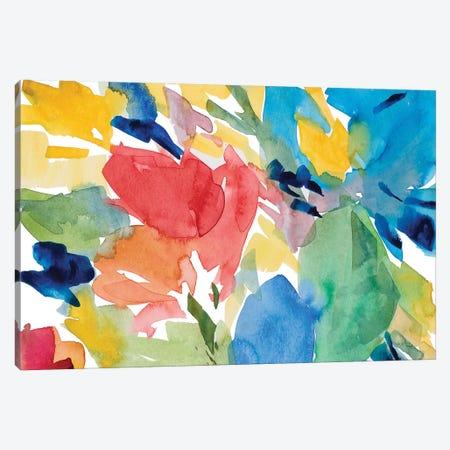 Positano Day Canvas Print #LNL392} by Lanie Loreth Art Print