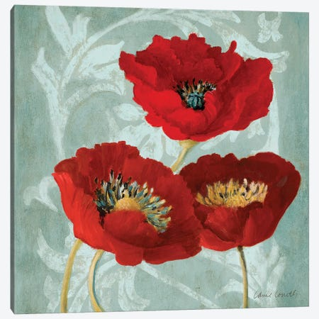 Rouge Pavots II Canvas Print #LNL398} by Lanie Loreth Art Print